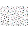 Snuggle Flannel Fabric -Hearts & Arrows