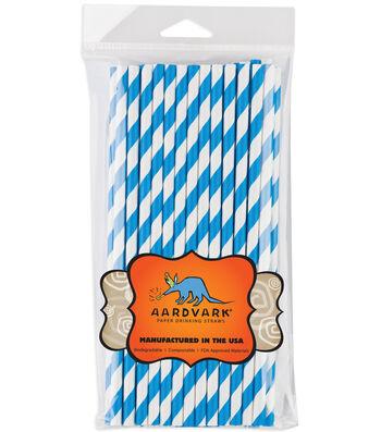 Aardvark Jumbo Straw Unwrapped Striped 7.75'' 50pcs