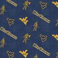 West Virginia University Mountaineers Flannel Fabric 42\u0022-Logo