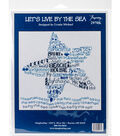 Let\u0027s Live By The Sea Counted Cross Stitch Kit 14 Count