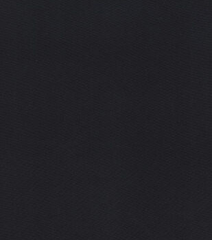Glitterbug Satin Fabric -Black Solid