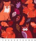 Anti-Pill Plush Fleece Fabric-Boho Wine Woodlands