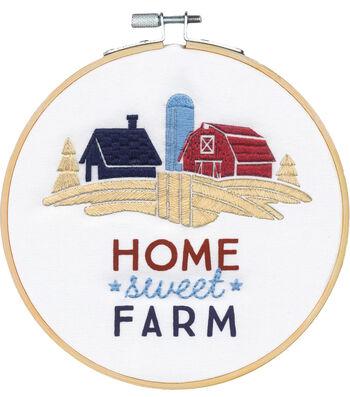 Americana Stitch Kit-Home Sweet Farm