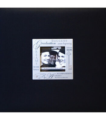 "MBI Expressions Post Bound Album w/Window 8""X8""-Graduation - Black"
