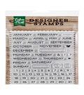 Echo Park Paper Company 60 pk Designer Stamps-Calendar Essentials