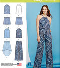 Simplicity Patterns Us1112D5-Simplicity Misses\u0027 Top, Pants Or Shorts And Skirt-4-6-8-10-12