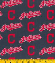 Cleveland Indians Cotton Fabric -Logo, , hi-res