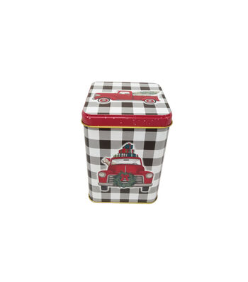 Maker's Holiday Christmas Medium Square Canister-Truck