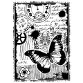Butterfly -unmounted Rubber Stp
