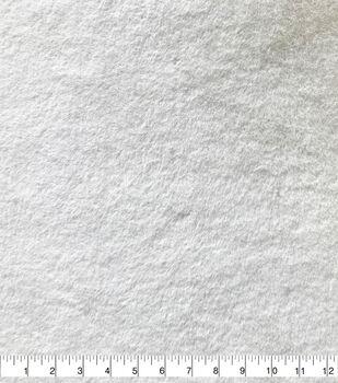 Soft Bear Faux Fur Fabric-White