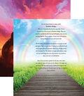Pawprints On My Heart Double-Sided Cardstock 12\u0022X12\u0022-Rainbow Bridge