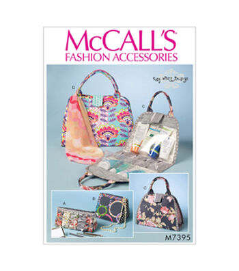 McCall's Pattern M7395 Cosmetic Bags in Four Styles