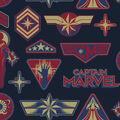 Marvel Fleece Fabric-Captain Marvel Badges