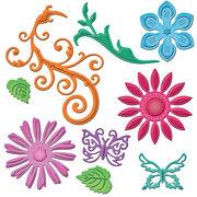 Spellbinders Shapeabilities Dies-Jewel Flowers&Flourishes, , hi-res