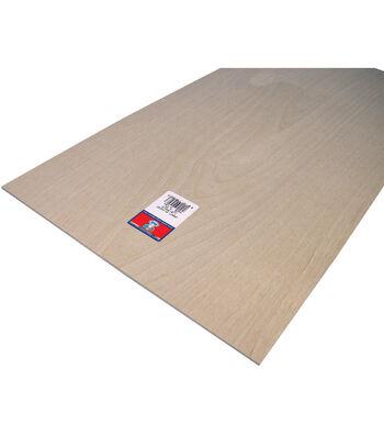 "Plywood Sheet-12""X24""X1/8"""