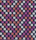 Quilter\u0027s Showcase Fabric 44\u0027\u0027-Mauve & Navy Geometric