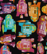 "Star Wars Fleece Fabric 58""-Tossed R2D2, , hi-res"