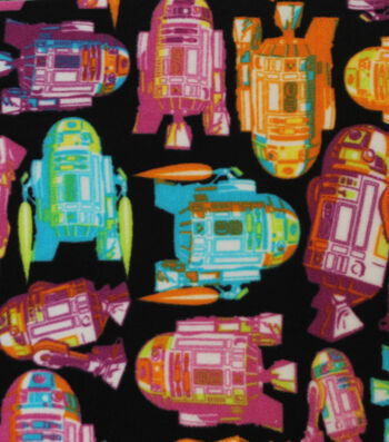 "Star Wars Fleece Fabric 58""-Tossed R2D2"