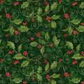 Christmas Cotton Fabric -Holly Vine