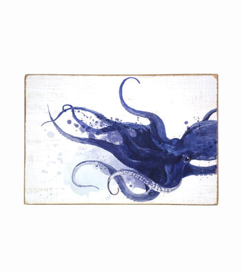 Indigo Mist Wall Decor-Octopus