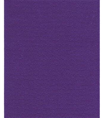 "Offray Ribbon Express 3"" Grosgrain-Regal Purple"