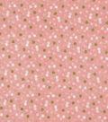 Keepsake Calico Cotton Fabric-Polka Dots Peach w/Gold Metallic