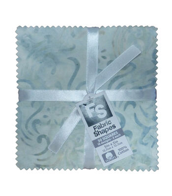 Charm Cotton Fabric Pack 5''x5''-Cream Batik