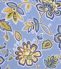 Keepsake Calico Cotton Fabric -Yellow Blue Allover Floral
