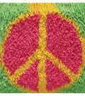 Shaggy Latch Hook Kit 12\u0022X12\u0022-Peace Sign
