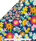 Double Faced Quilt Fabric 42\u0027\u0027-Multicolored Floral