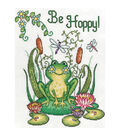 8X10 14Ct -Be Hoppy -Frog