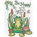 8X10 14Ct -Be Hoppy -Frog
