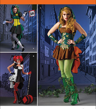 Simplicity Patterns 1091-Misses' Super Villainess Costumes