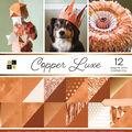 DCWV Pack of 12 12\u0027\u0027x12\u0027\u0027 Premium Printed Cardstock Stack-Copper Luxe