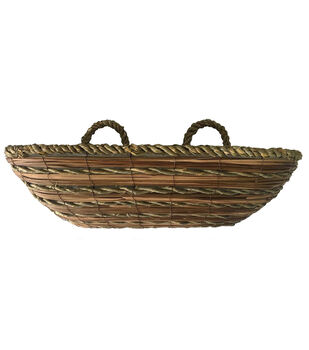 In the Garden 24'' Rope & Fern Window Planter with Handles