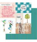 Webster\u0027s Pages My Happy Place Double-sided Cardstock-Enjoy the Day