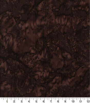 Cotton Fabric 44''-Dark Brown Tonal Batik