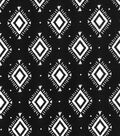 Quilter\u0027s Showcase Fabric 44\u0027\u0027-Aztec Geometric on Black
