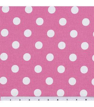 Keepsake Calico Cotton Fabric -Large Dots on Rose Pink