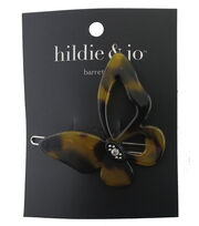 hildie & jo Butterfly Barrette-Tortoise Shell, , hi-res