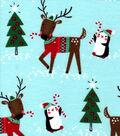 Snuggle Flannel Fabric 42\u0022-Reindeer in Sweaters