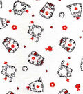 Snuggle Flannel Fabric -Round Kitties