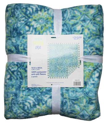 No Sew Fleece Throw 72''x60''-Obligato Mist