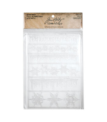 Tim Holtz Idea-ology Alpha Parts-Frozen