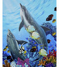 Novelty Cotton Fabric Panel 44\u0022-When Dolphins Dance