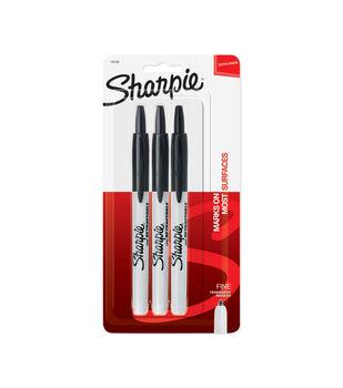 Sharpie Fine Marker 3pk-Black