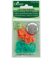 Clover Locking Stitch Marker, , hi-res