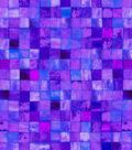 Snuggle Flannel Fabric 42\u0022-Purple Watercolor Tile
