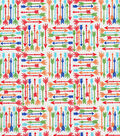 Quilter\u0027s Showcase Cotton Fabric -Bright Arrows on White