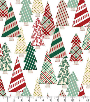 Super Snuggle Flannel Fabric-Pattern Christmas Trees
